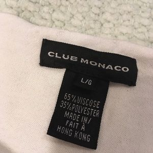 Club Monaco Sweaters - Club Monaco White Sweater with lace up arm detail